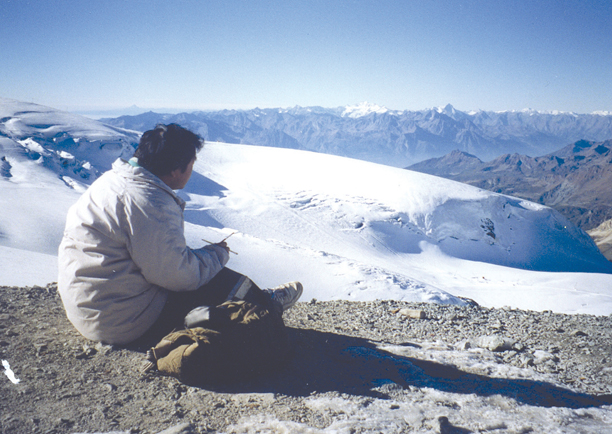 Plein air painting in Alps France 1993