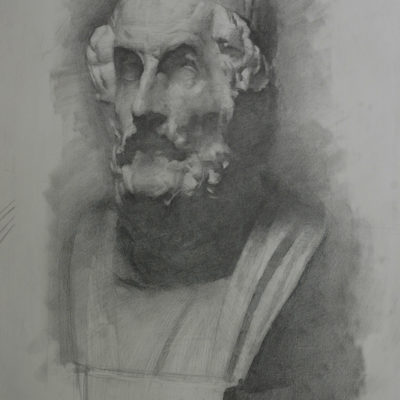 Life cast drawing