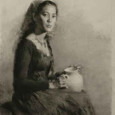 Life portrait drawing