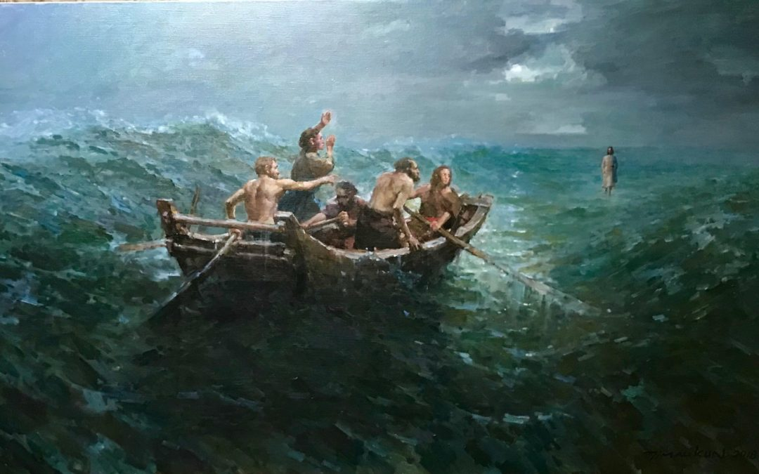 Jesus walking on water – from the perspective of an artist