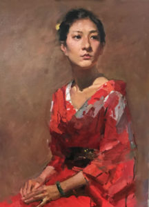 yim mau run, portrait oil painting, how to paint portrait