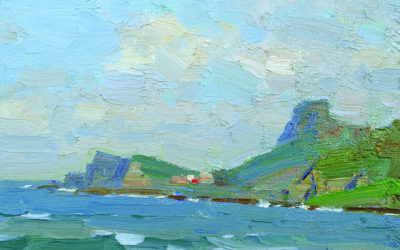 How to paint small plein air landscape – a step-by-step guide