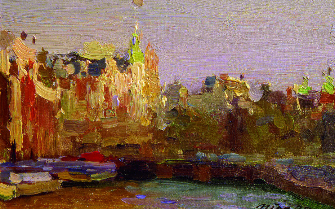 The secret to color training – small plein air landscape