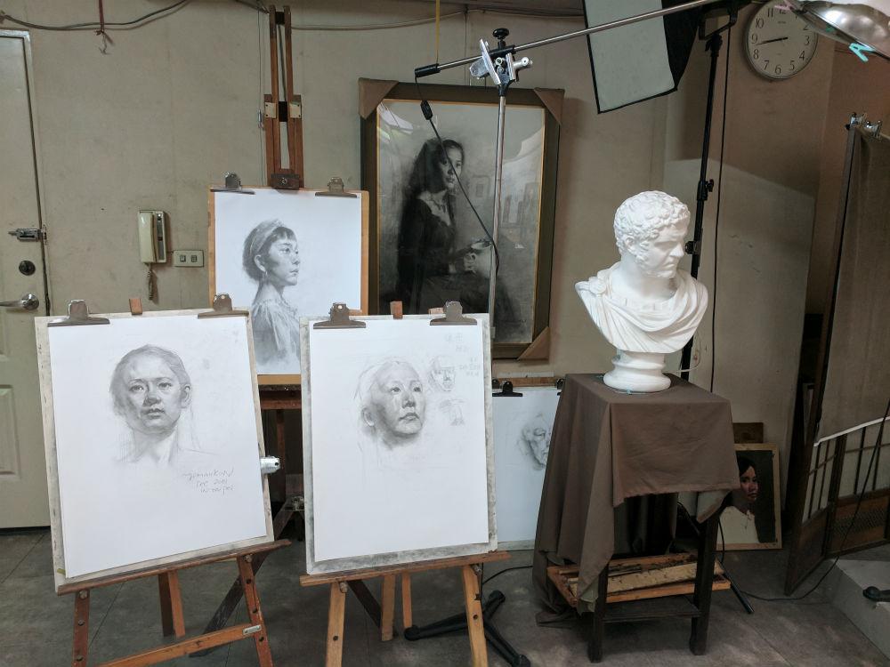 Portraiting painting of Li Ao Taipei 2002
