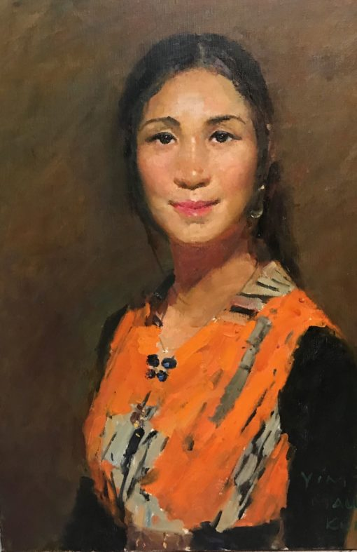 Girl from Changsha oil on canvas 24 x 18 inches 2017
