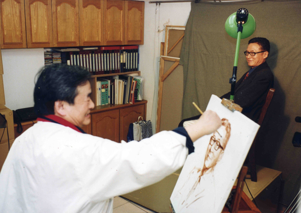 Portraiting painting of Li Ao Taipei 2002