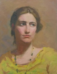 Osamu Tanimoto portrait oil painting practice