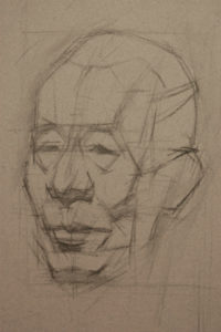 life drawing, how to draw the head, portrait drawing