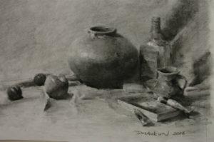 Still life drawing demonstration