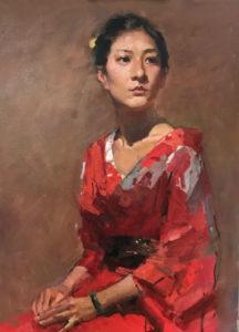 yim mau run, portrait oil painting, how to paint portrait