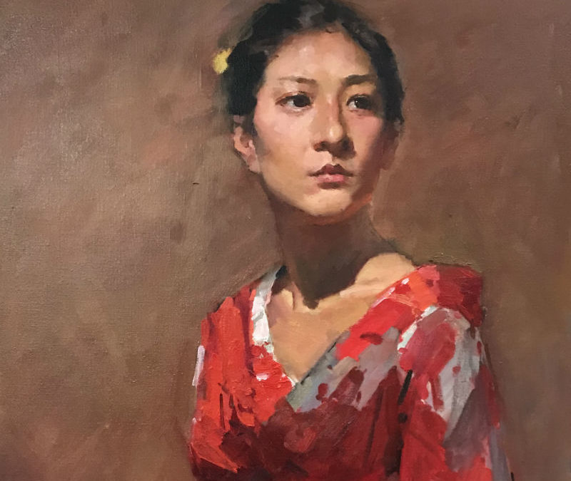 How to paint a portrait – a step-by-step process for Girl in Kimono