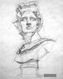 Yim Mau-Kun, classical bust study, Apollo