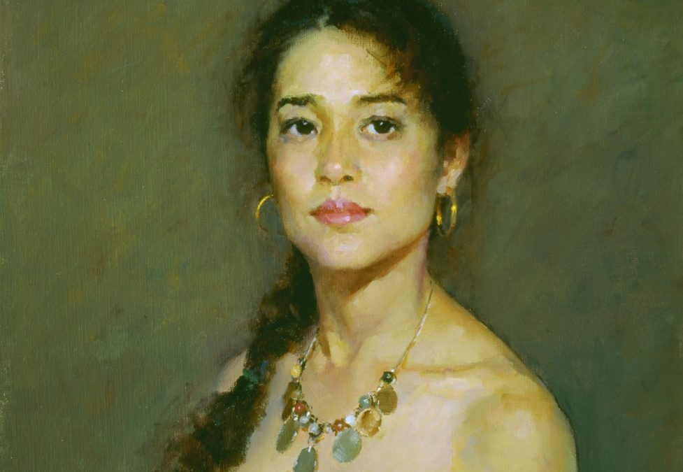 How to paint oil portrait from life