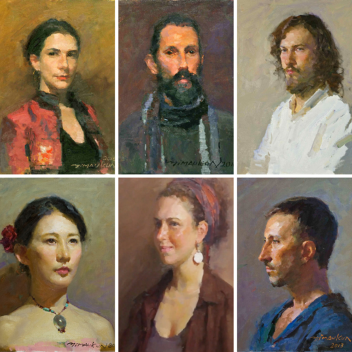 Feature image for comprehensive portrait oil painting course